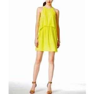 Bar III Yellow Sleeveless Dress Size S